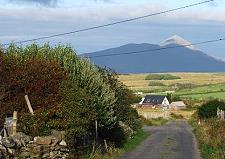 Croagh Patrick in the east of the cottage